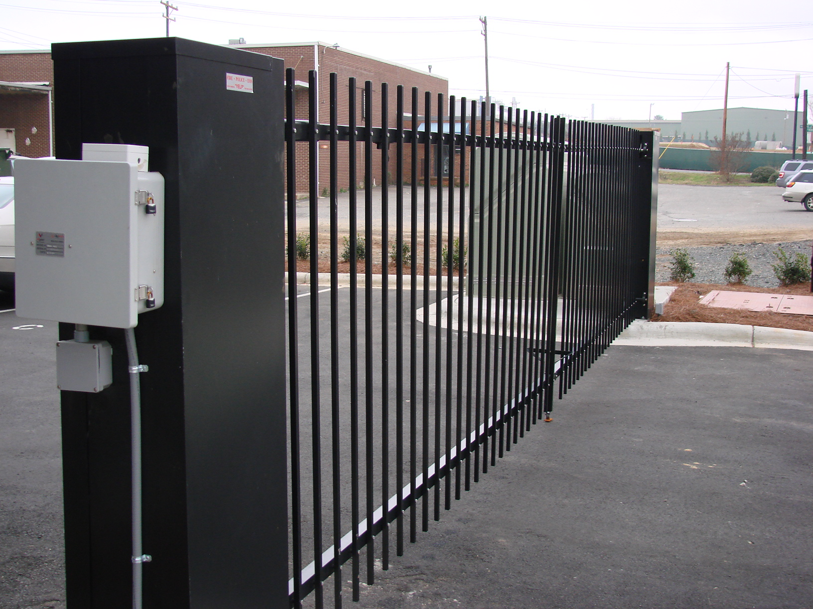 Driveway gates automatic gates charlotte greensboro nc for Motorized gates for driveways